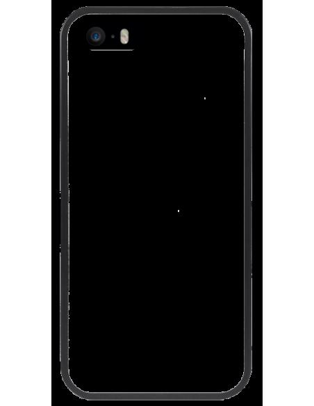 Funda personalizada para iPhone 5 5s de TPU o goma flexible borde negro