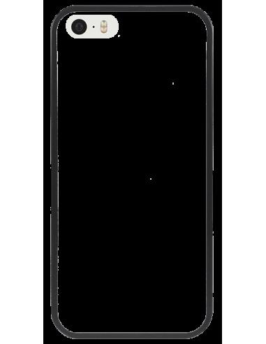 Funda personalizada para iPhone SE de TPU o goma flexible borde negro