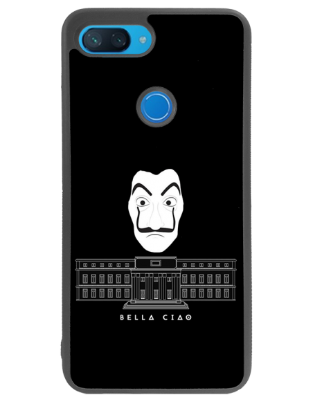 Funda personalizada para Xiaomi Mi 8 lite de goma borde negro flexible