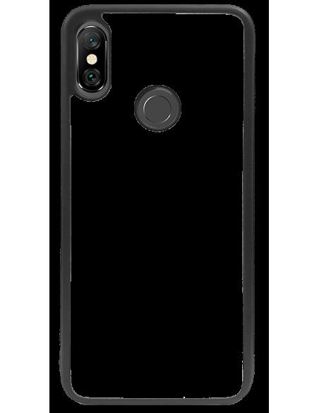 Funda personalizada para Xiaomi Redmi Note 6 Pro de borde de goma negra flexible