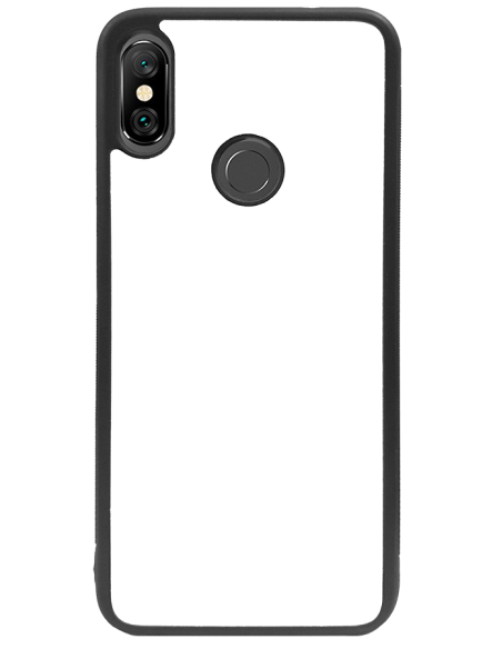 Funda personalizada para Xiaomi Redmi 6 Pro de borde negro de goma flexible