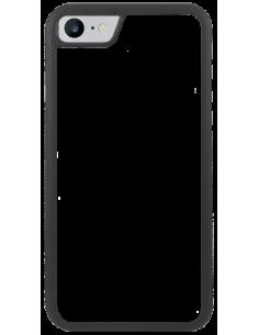 Funda personalizada para iPhone 7 de TPU o goma flexible borde negro