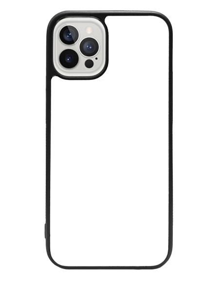 Funda personalizada para iPhone 12 Pro de TPU o goma de borde negro