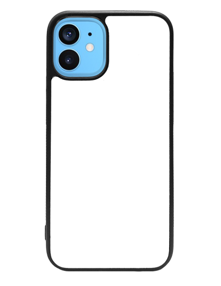 Funda personalizada para iPhone 12 mini de TPU o goma de borde negro