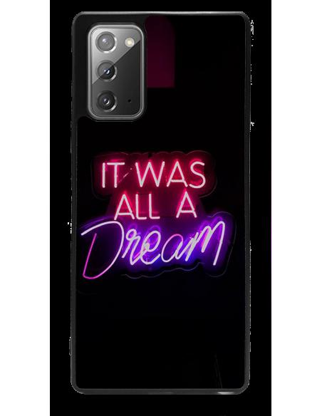 Funda personalizada para Samsung Galaxy Note20 de goma negra TPU flexible