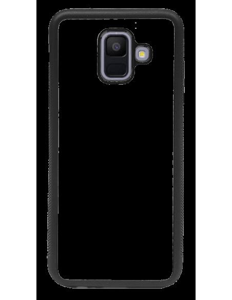 Funda personalizada para Samsung Galaxy A6 (2018) de TPU borde negro flexible