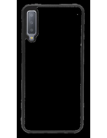 Funda personalizada para Samsung Galaxy A7 (2018) de TPU borde negro flexible