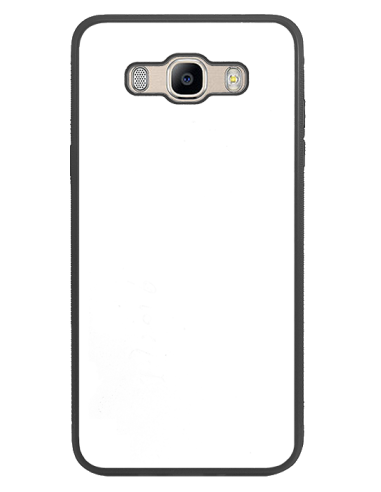 Funda personalizada para Samsung Galaxy J7 (2016) de goma negra flexible TPU