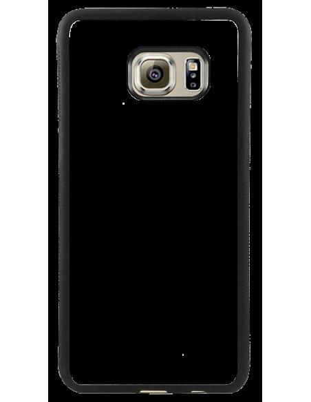 Funda personalizada para Samsung Galaxy S6 edge de goma flexible TPU borde negro