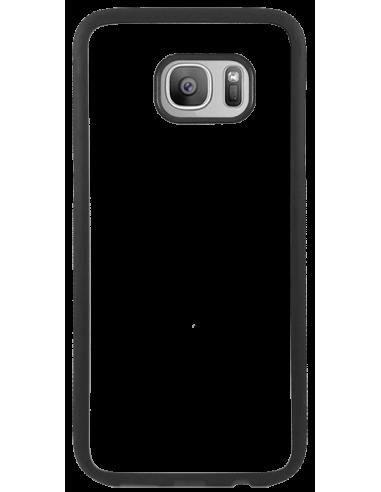 Funda personalizada para Samsung Galaxy S7 edge de goma flexible negra TPU