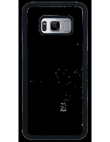 Funda personalizada para Samsung Galaxy S8 de goma negra TPU flexible