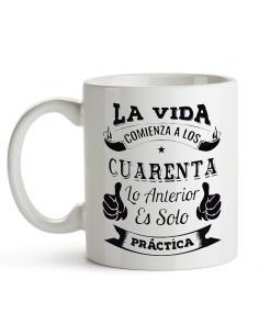 Taza de cerámica con Frase...