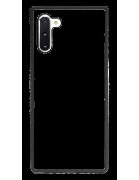 Funda personalizada para Samsung Galaxy Note 10 de goma negra TPU flexible