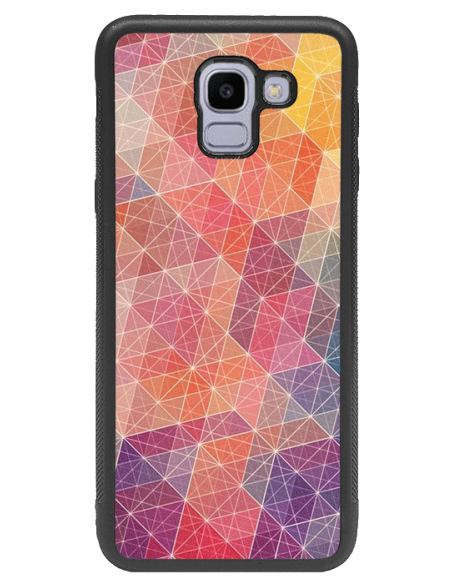 Funda personalizada para Samsung Galaxy J6 (2018) de goma negra flexible TPU