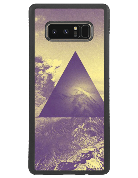 Funda personalizada para Samsung Galaxy Note 8 de goma negra TPU flexible