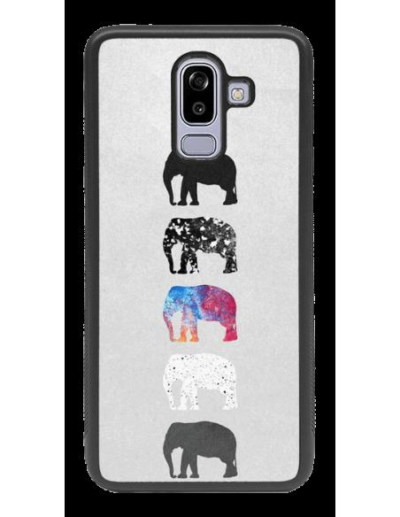 Funda personalizada para Samsung Galaxy J8 año 2018 de goma negra flexible TPU