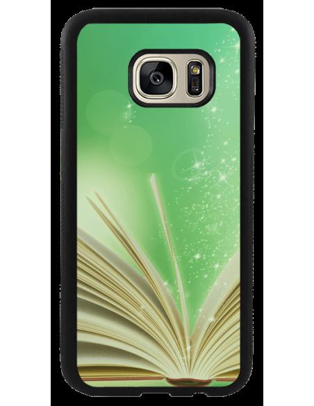 Funda personalizada para Samsung Galaxy S7 de goma flexible negra TPU