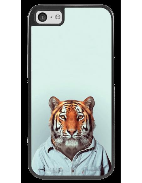 Funda personalizada para iPhone 5c de TPU o goma flexible borde negro