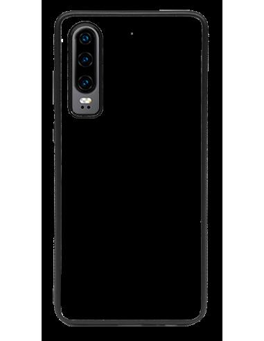 Funda personalizada para Huawei P30 de borde negro de TPU