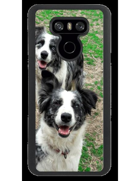 Funda personalizada para LG G6 de TPU en borde negro flexible
