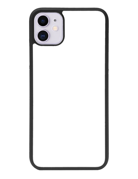 Funda personalizada para iPhone 11 de TPU o goma de borde negro