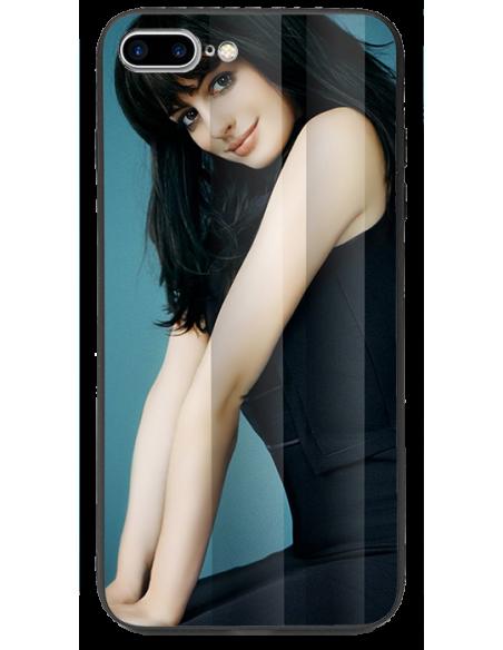 Funda personalizada para iPhone 8 Plus de TPU o goma y cristal efecto espejo