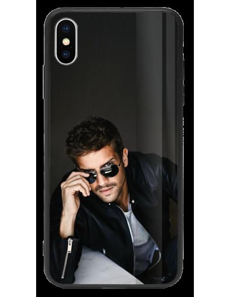 Funda personalizada para iPhone XS de TPU y cristal efecto espejo