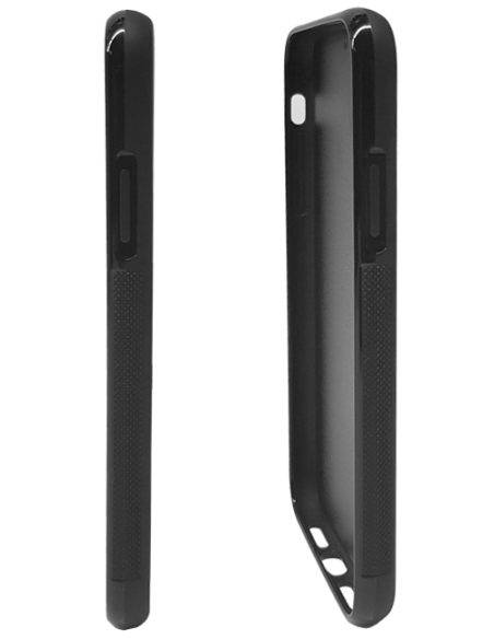Funda personalizada para iPhone 6 Plus de TPU o goma flexible borde negro
