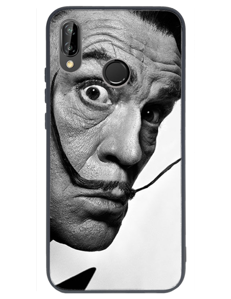 Funda personalizada para Huawei P20 Lite de borde negro de TPU efecto espejo