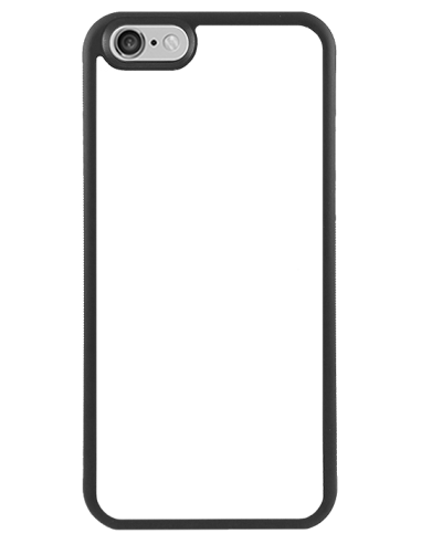 Funda personalizada para iPhone 6 de TPU o goma flexible borde negro