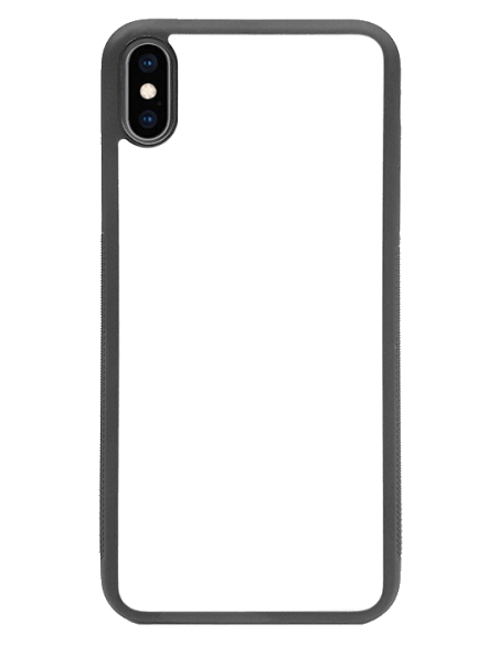 Funda personalizada para iPhone XS Max de TPU o goma de borde negro