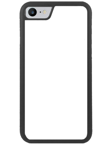 Funda personalizada para iPhone SE (2020) de TPU o goma flexible borde negro