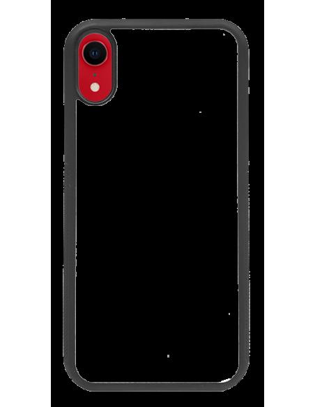 Funda personalizada para iPhone XR de TPU o goma de borde negro
