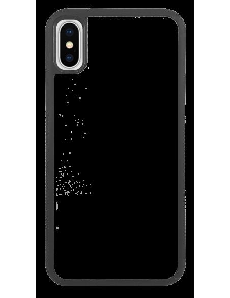 Funda personalizada para iPhone X de TPU o goma de borde negro